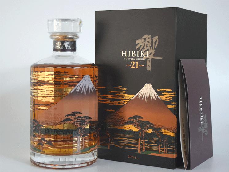 サントリー 響 21年 意匠ボトル<富士風雲図>