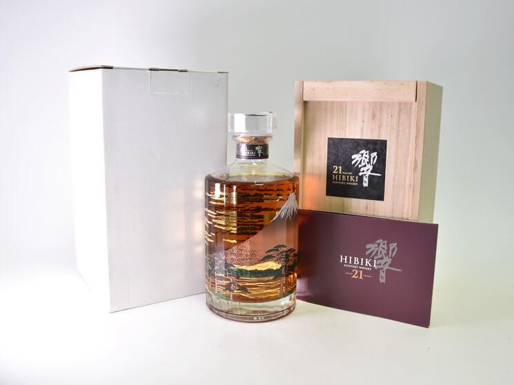 サントリー ウイスキー 響 21年 意匠ボトル 富士風雲図 2015リリース
